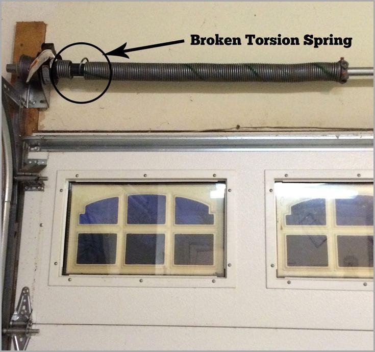 Garage Door Torsion Spring Broke