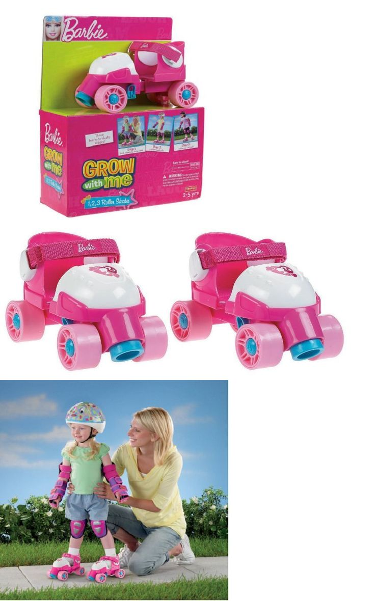 Youth 71156: Girls First Roller Skates For Sale Kids Toddler Pink Barbie Grow With Me New -> BUY IT NOW ONLY: $39.99 on eBay!