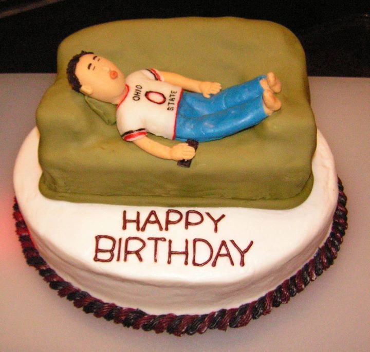 Dad Birthday Fathers Day Couch Remote Sleep Cake