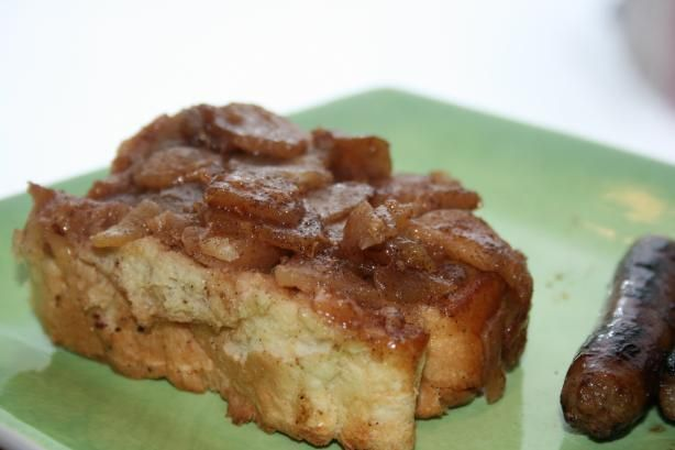 Apple French Toast Casserole...amazing breakfast that makes your house smell like apple pie. We have this everything Christmas morning with a big group (I double the apple amounts!) and its a huge hit with everyone. Even better....make it the night before and keep in the fridge until the morning, then just pop it into the oven!