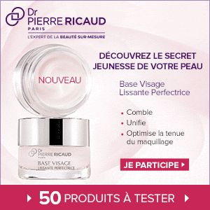 Inscrivez-vous et vous ferez peut-être partie des 50 personnes sélectionnées pour recevoir et tester ce produit. En savoir plus sur http://www.beaute-test.com/service/test_produit_dr_pierre_ricaud_base_visage_lissante_perfectrice.php#MvelYO774da6J5oY.99