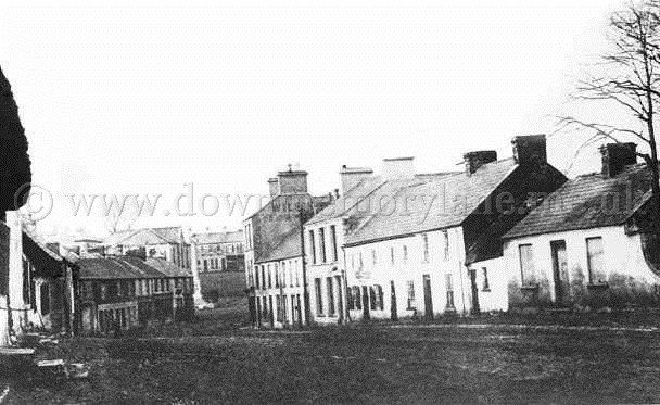 Ballyclare main street in the 1880s