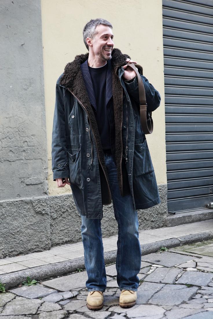 Alessandro Boccardo - owner at Casamadre italian food bar @ Society Milano/ courtyard seen on La Repubblica R Club Album / lo stile indipendente, di Roberto Ciminaghi, ph Mattia Zoppellaro