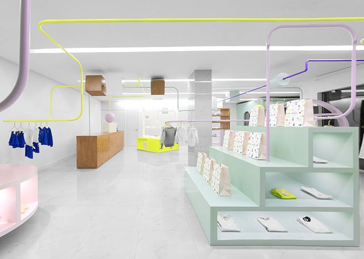 Anagrama creates oversized bead maze for Kindo children's boutique.