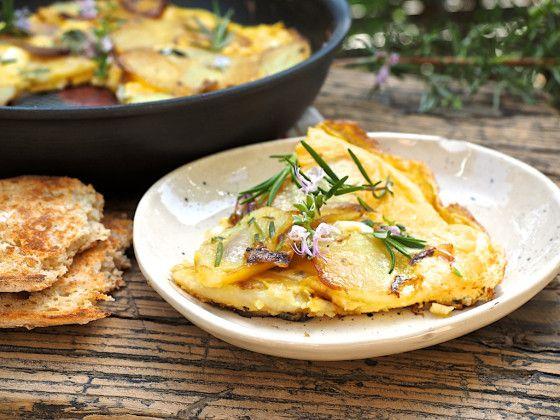 Potato and Shallot Frittata