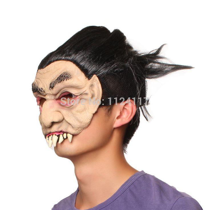 Хэллоуин Маскарад маски латексные маски страшные клыки Карнавальные вечеринки реалистичные силиконовые маски праздника смешные туши для ресниц маска MS0038