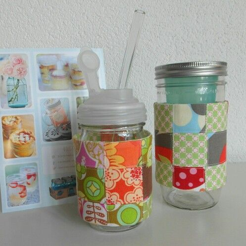 Made some cupsleeves for my Mason Jars today.
