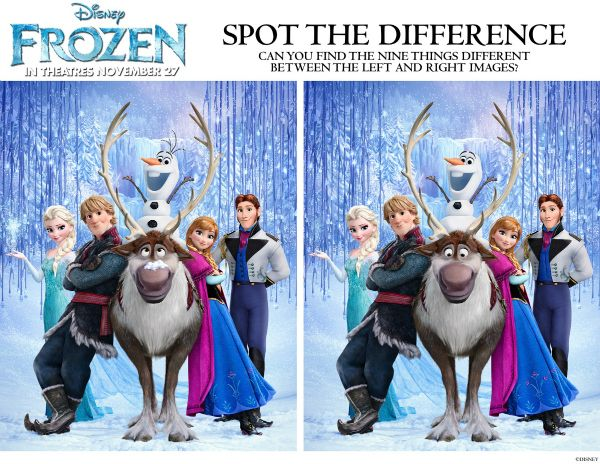 Disney Frozen Spot the Differences Printable Activity
