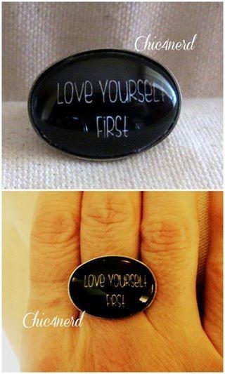 """""""LOVE YOURSELF FIRST"""" Prima di ogni cosa ama te stesso  #love #chic4nerd #selfconfidence #rings #jewelry"""