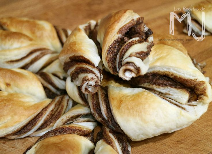 Flor de hojaldre con nutella / Puff pastry flower with nutella