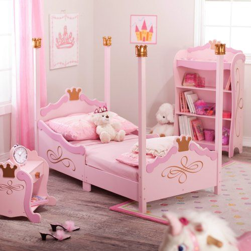 $130 and AWESOME!! - KidKraft Princess Toddler Bed - Pink - Themed Toddler Beds at Hayneedle
