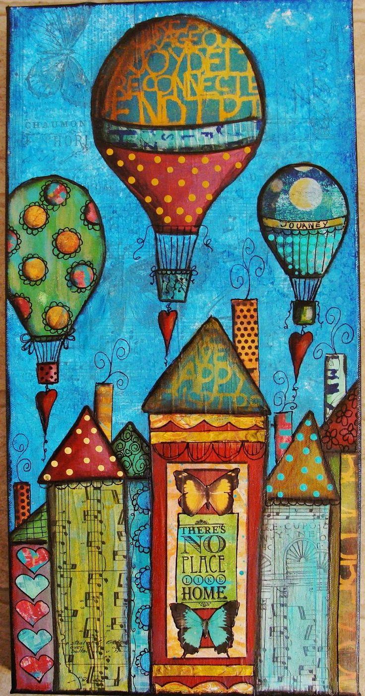 My Art Journal: New Cupcake Art--Start to Finish