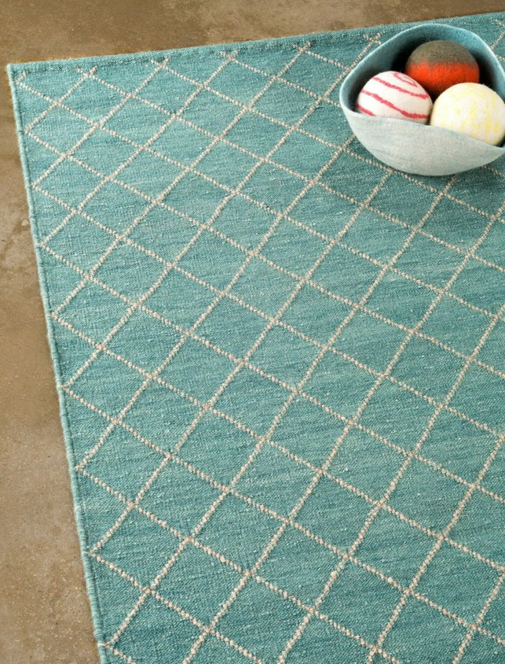 The Turquiose Granite Twine Weave Floor Rug By Armadillo Is Hand Woven Under Fair Trade Conditions In India