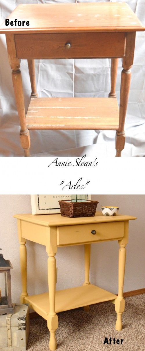 Hello Yellow! | Timeless Creations, LLC Annie Sloan. Arles. Chalk paint. painted wooden furniture.
