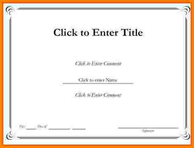 Sample printable certificate template simple bill format free Otherly #SampleResume #FreePrintableCertificateTemplates
