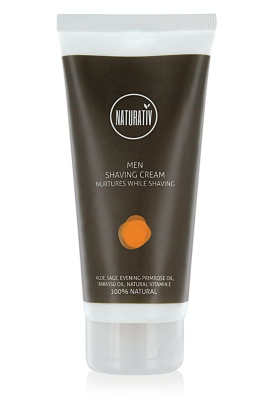 Krem do Golenia dla mężczyzn NATURATIV pozwala na komfortowe golenie bez podrażnień. Dlatego ten naturalny kosmetyk:  Przygotowuje skórę i zarost do golenia Pielęgnuje i chroni skórę podczas usuwania zarostu W czasie golenia koi, nawilża i odżywia skórę. Zawiera substancje działające wybitnie łagodząco. Najbardziej wartościowe z olei roślinnych oraz naturalna witamina E pielęgnują i odżywiają skórę, a szałwia działa  przeciwbakteryjnie.