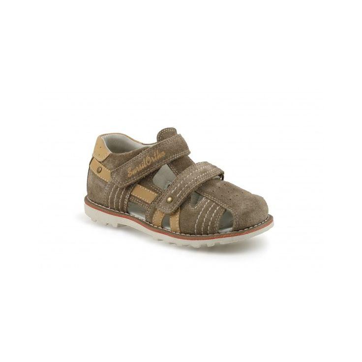 Сандалии детские бежевые коричневые для мальчиков SursilOrto