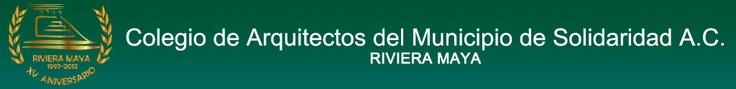 Sitio web del Colegio de Arquitecto del Municipio de la Riviera Maya, contiene información general y normativa de la arquitectura, la construcción y el desarrollo turístico y urbano sustentable en el municipio de solidaridad y de Quintana Roo, así como asesoría y consulta de artículos de interés sobre el tema.