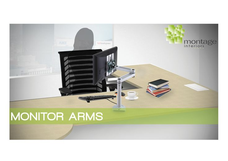 The Easy Fly LCD Monitor Arm is a unique design which is height adjustable, providing an ergonomic and functional solution. Frees up work space and can position the monitor at the perfect height. Distance and viewing angle are equally adjustable. http://www.montagenz.co.nz/products/cat/accessories/cat1/display/p/easyfly-monitor-arm/