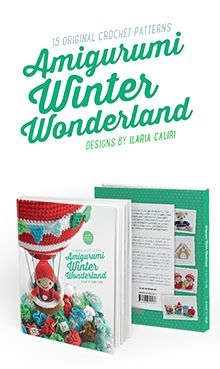 Casetta pan di zenzero a uncinetto con tantissimi dettagli. Nel libro Amigurumi per un magico Natale di Ilaria Caliri (in EN: Amigurumi Winter Wonderland)