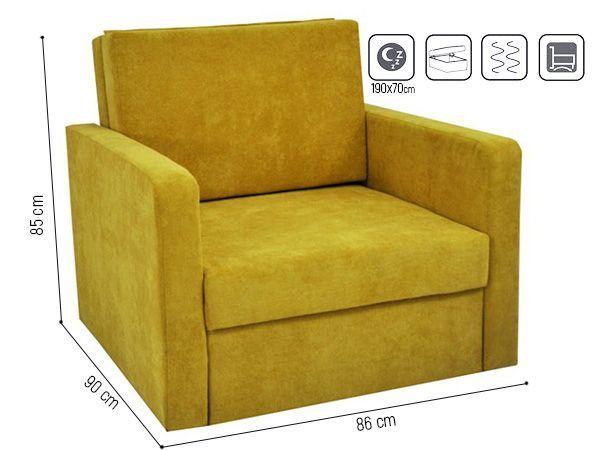 Sofa Fotel Jednoosobowy Rozkładany Fun Mieszkanie Zaulek