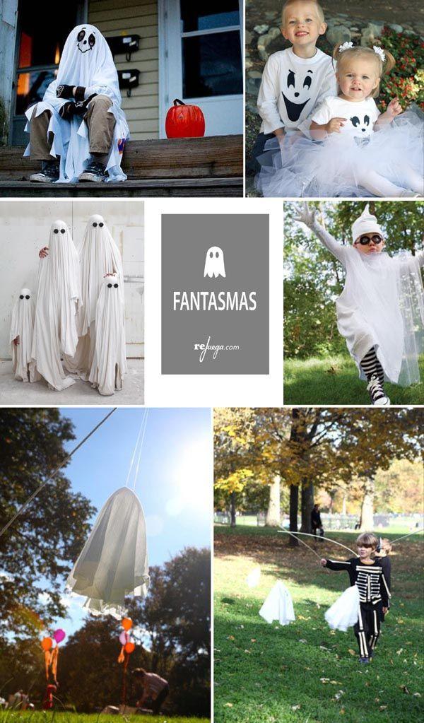 Disfraces de Halloween de fantasma para niños