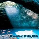 Crater hot springs in Midway Utah