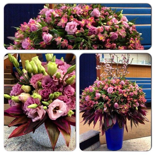 Arranjo floral com flores rosas
