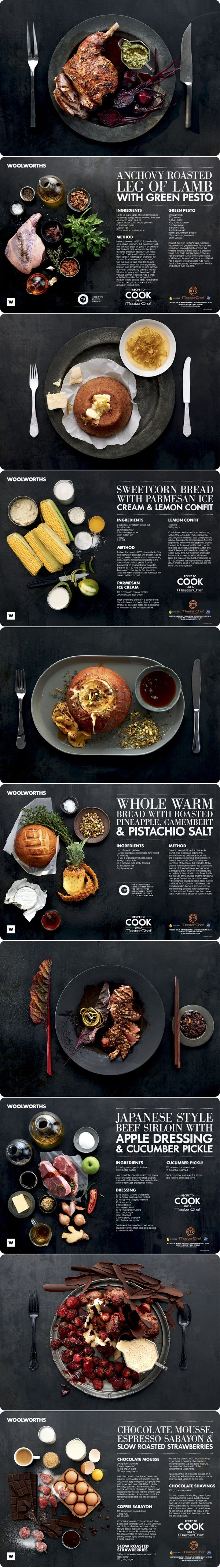 food pages // Laura Wall on behance