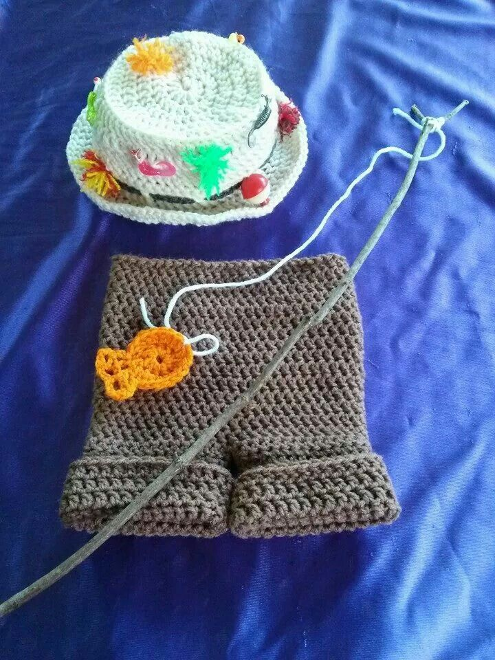17 best images about baby boy crochet on pinterest for Baby fishing outfit