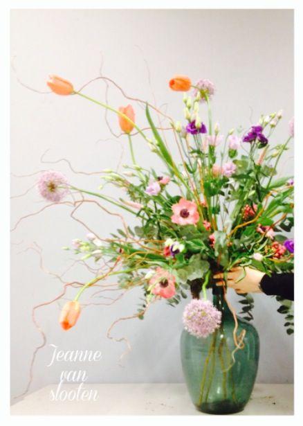 Etalage bloemwerk - Jeanne van Slooten