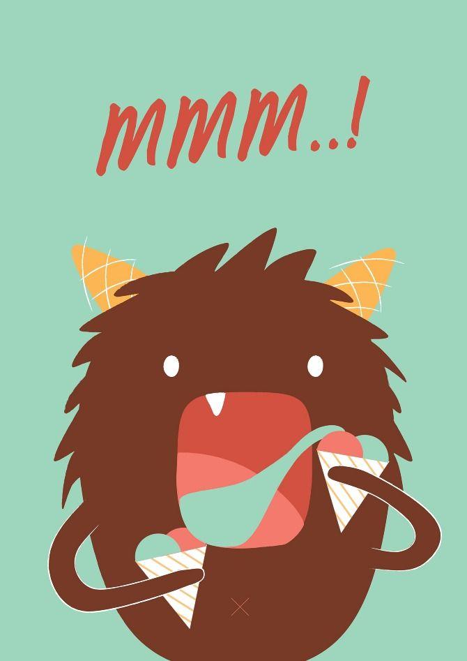 Mmm! Sugacane monster by Nicole Tan