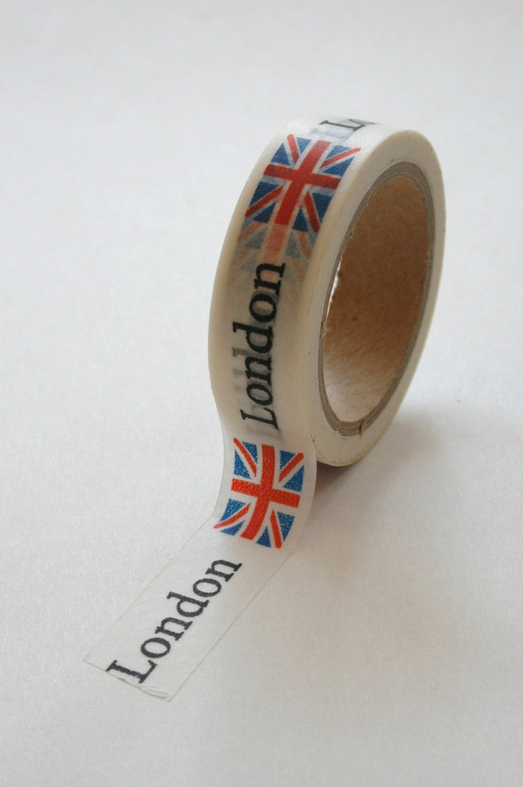 This should be the least useful thing and most vulnerable to criticism and snark, but ah I love it and ah want it! I needs me some London tape!
