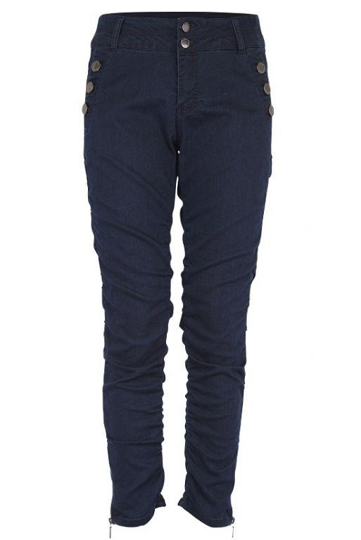 Fransa Zicano Jeans Real Indigo Blue - Bukser - MaMilla