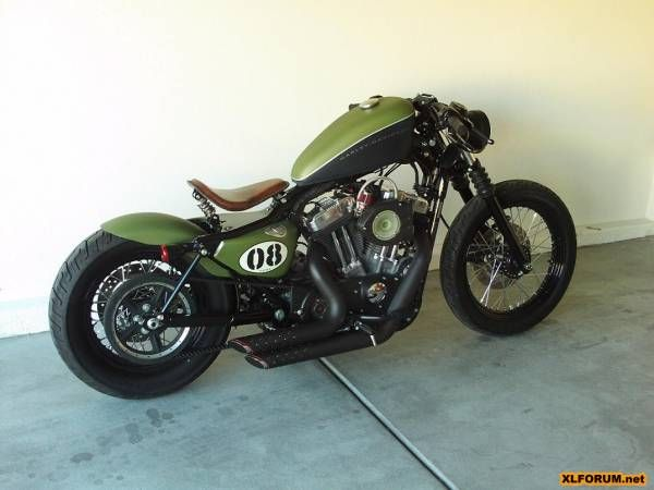 Harley Nightster bobber. I'm In absolute LOVE with is bike. I wish It was Jamie's!