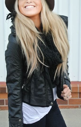 Obey leather jacket from Lulus