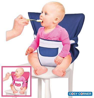 Υφασμάτινο Κάθισμα με Τσέπη & Επένδυση - Ιδανικό για ταξίδια και εστιατόρια. http://goo.gl/rpSu79