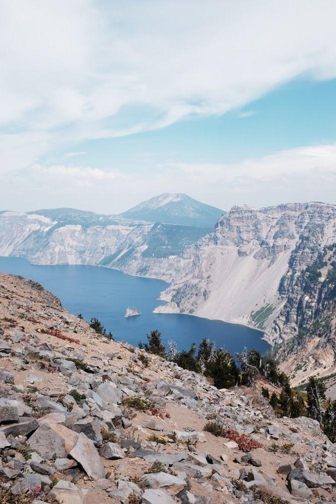 Mt Garfield. Crater Lake, Oregon