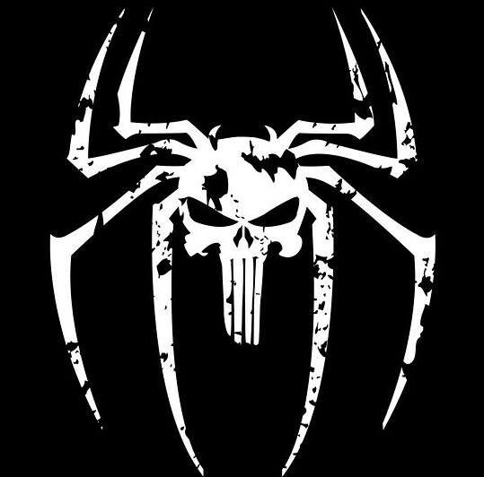 The Punisher/Venom symbol mashup