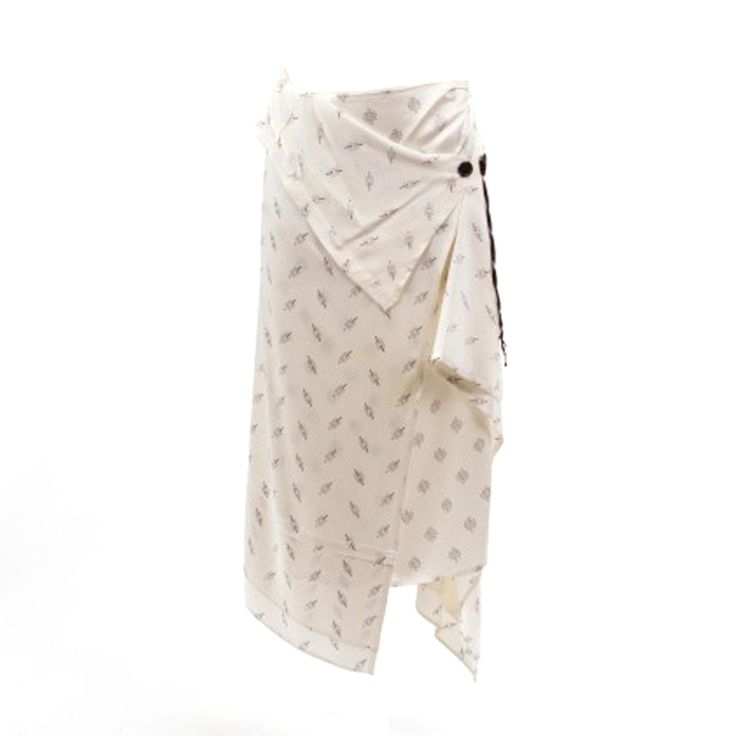Chic Ann Demeulemeester Wrap Skirt | From a collection of rare vintage skirts at https://www.1stdibs.com/fashion/clothing/skirts/