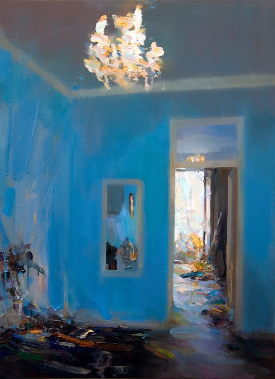 ◇ Artful Interiors ◇ paintings of beautiful rooms - Carlos San Millan