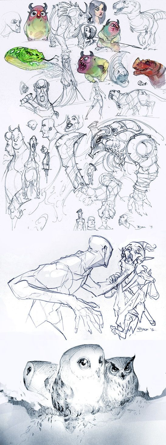 Ideas y bocetos de Luke Mancini. #ilsutracion