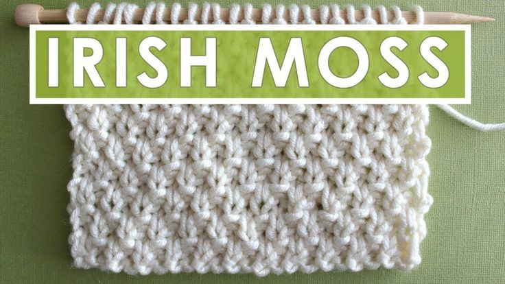 Neuen Irish Moss Knit Stitch Pattern Chart Mit Video Tutorial