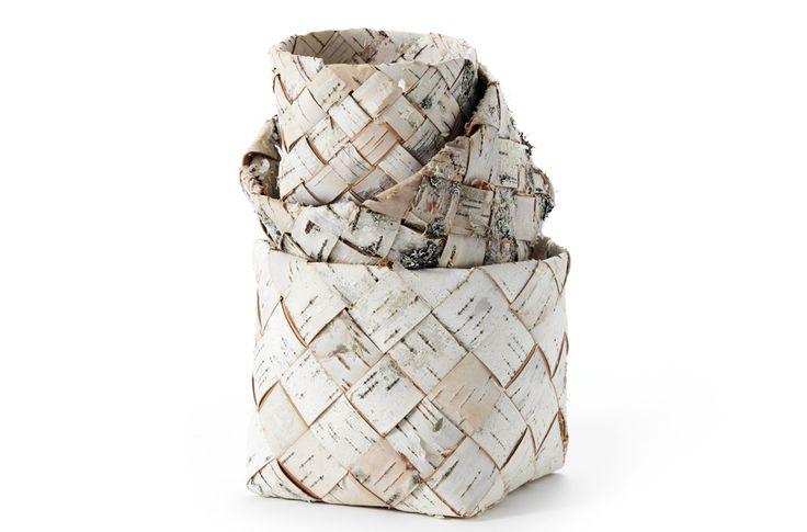 Birch bark baskets by Ulla Neogard