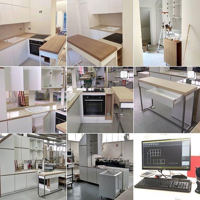 Sequenza realizzativa di cucina su misura realizzata con ...