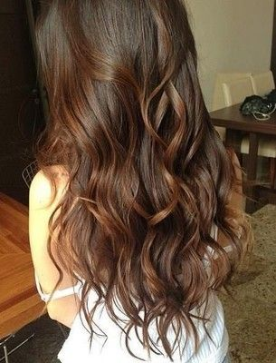 brunette beach waves Hair