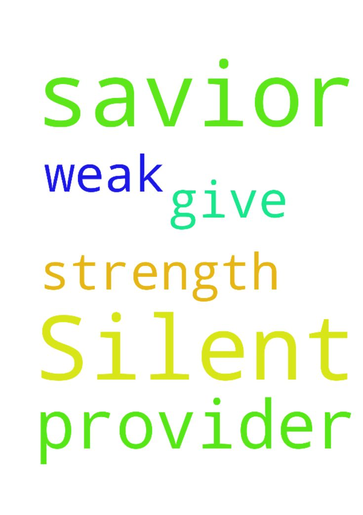 Silent prayer. For you are my savior, my provider. - Silent prayer. For you are my savior, my provider. You give me strength when I am weak. In Jesus name. Amen Posted at: https://prayerrequest.com/t/Tu3 #pray #prayer #request #prayerrequest