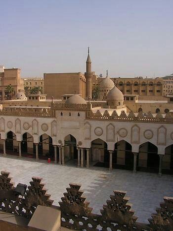 al azhar mosque, cairo, egypt