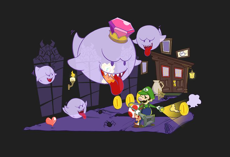 Nintendo Luigi's Haunted Mansion with King Boo