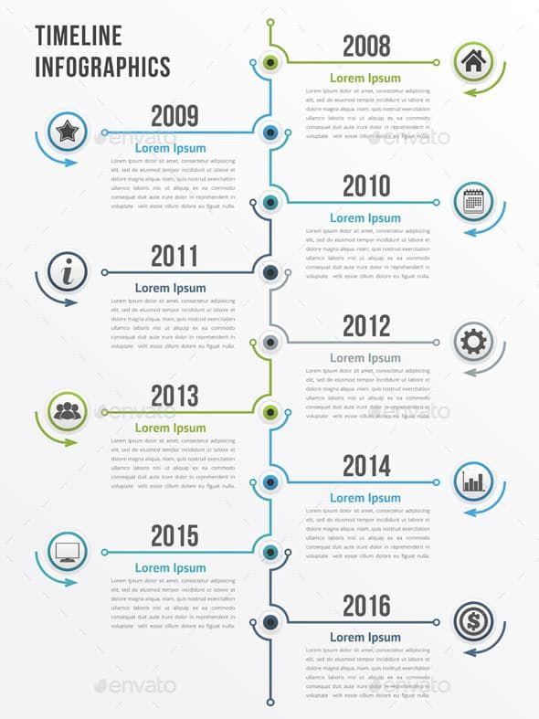 Timeline Frise Chronologique Graphique Chronologie Frise Chronologique Design